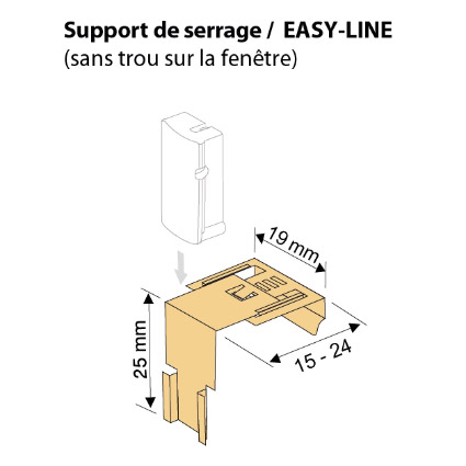 Support de serrage « easy-line »