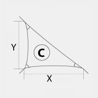 Voile d'ombrage - Triangle rectangle